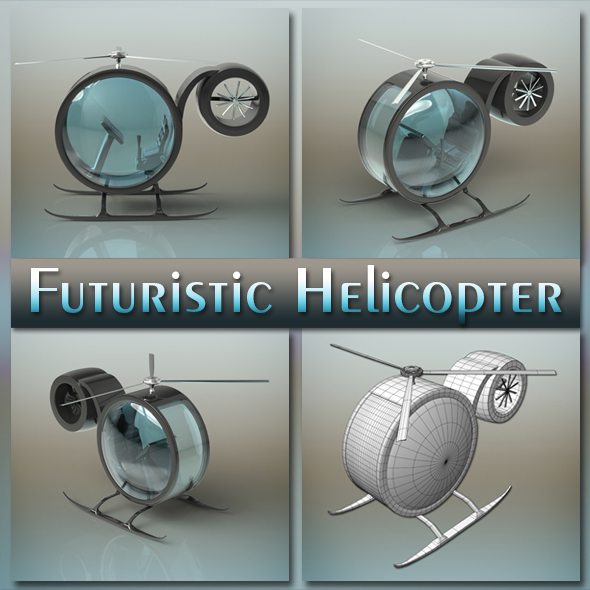 Futuristic Helicopter - 3DOcean Item for Sale