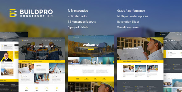 BuildPro – Business, Building & Construction WordPress Theme
