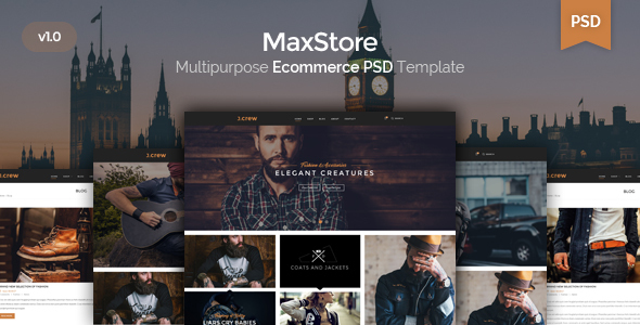 Jcrew – Multipurpose Ecommerce PSD template