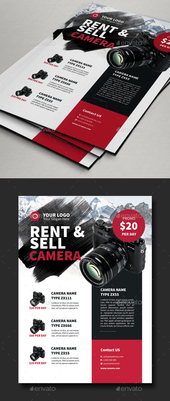 Rent & Sell Camera Flyer Template - Commerce Flyers
