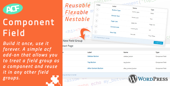 Advanced Custom Fields - Component Field Addon - CodeCanyon Item for Sale