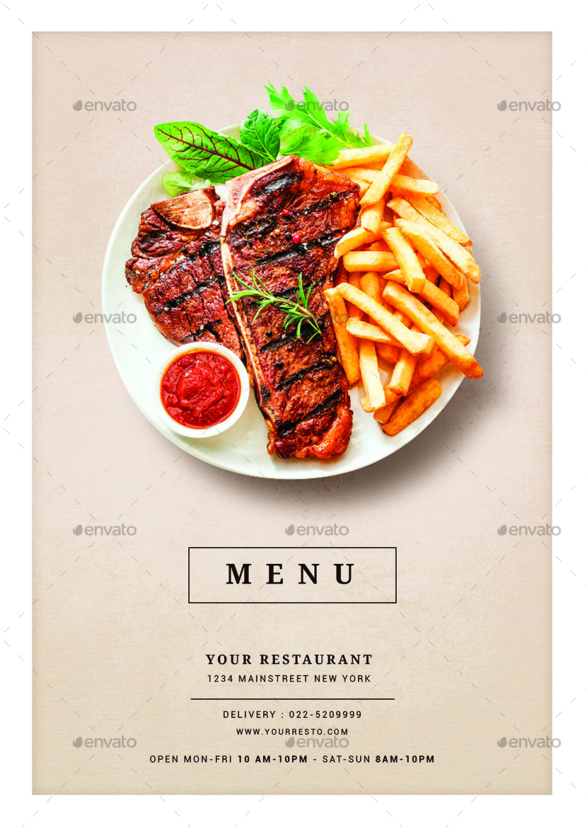 Restaurant Food Menu by vynetta | GraphicRiver