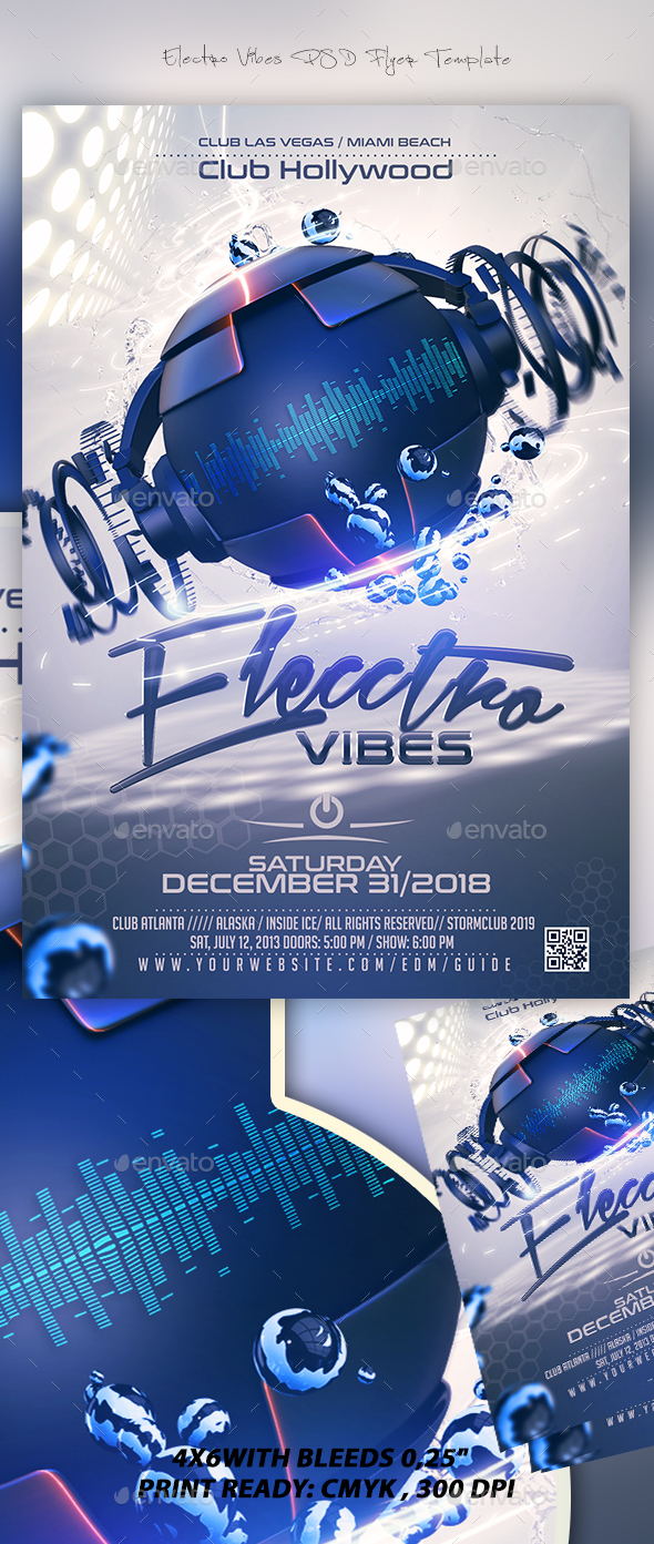 Electro Vibes Flyer Template - Events Flyers