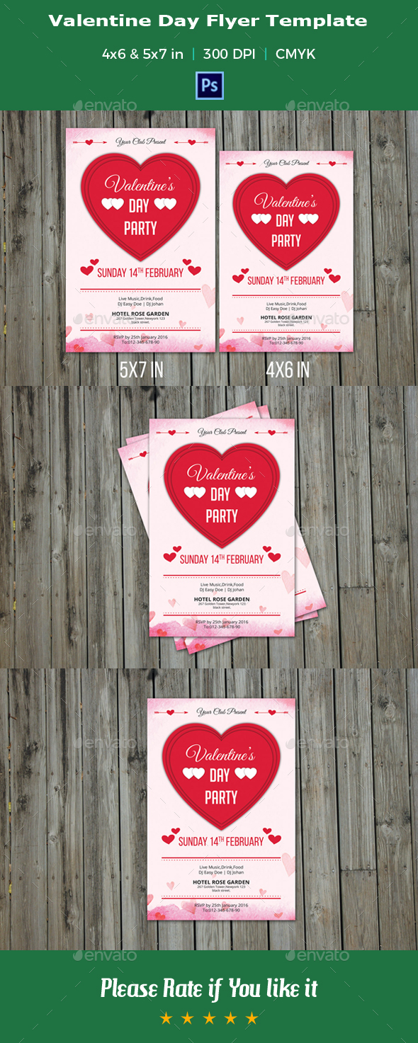 Valentine Day Party Flyer-V02 - Events Flyers