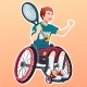 Young Male Disabled Tennis Player. Sport Concept - GraphicRiver Item for Sale