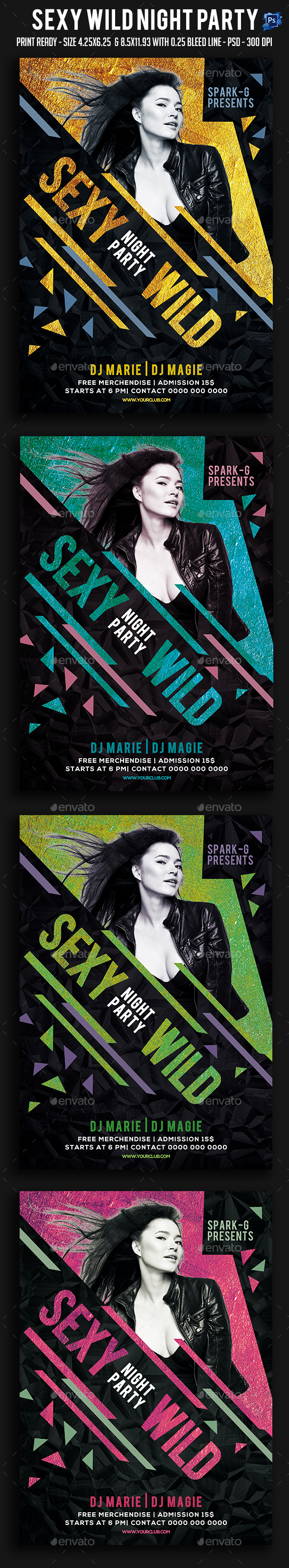 Sexy Wild Night Party Flyer - Clubs & Parties Events