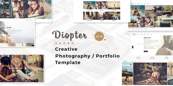 Diopter – Creative Responsive  Photography Portfolio  Template