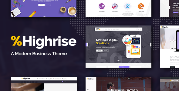 Highrise – A Theme for Modern Businesses, Corporations, and Consulting Companies