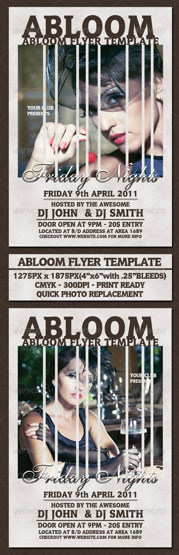 Abloom Flyer Template - Clubs & Parties Events