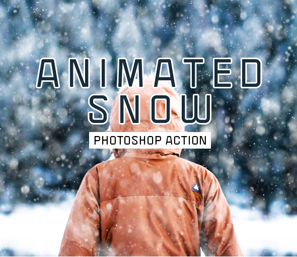 Gif Animated Snow and Cloud Photoshop Action - Photo Effects Actions
