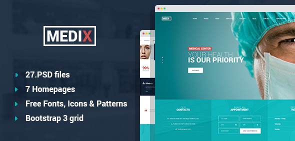 Medix - Medical Clinic PSD Template