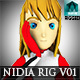 Nidia Rig v01 - Female Model Rigged -  Maya