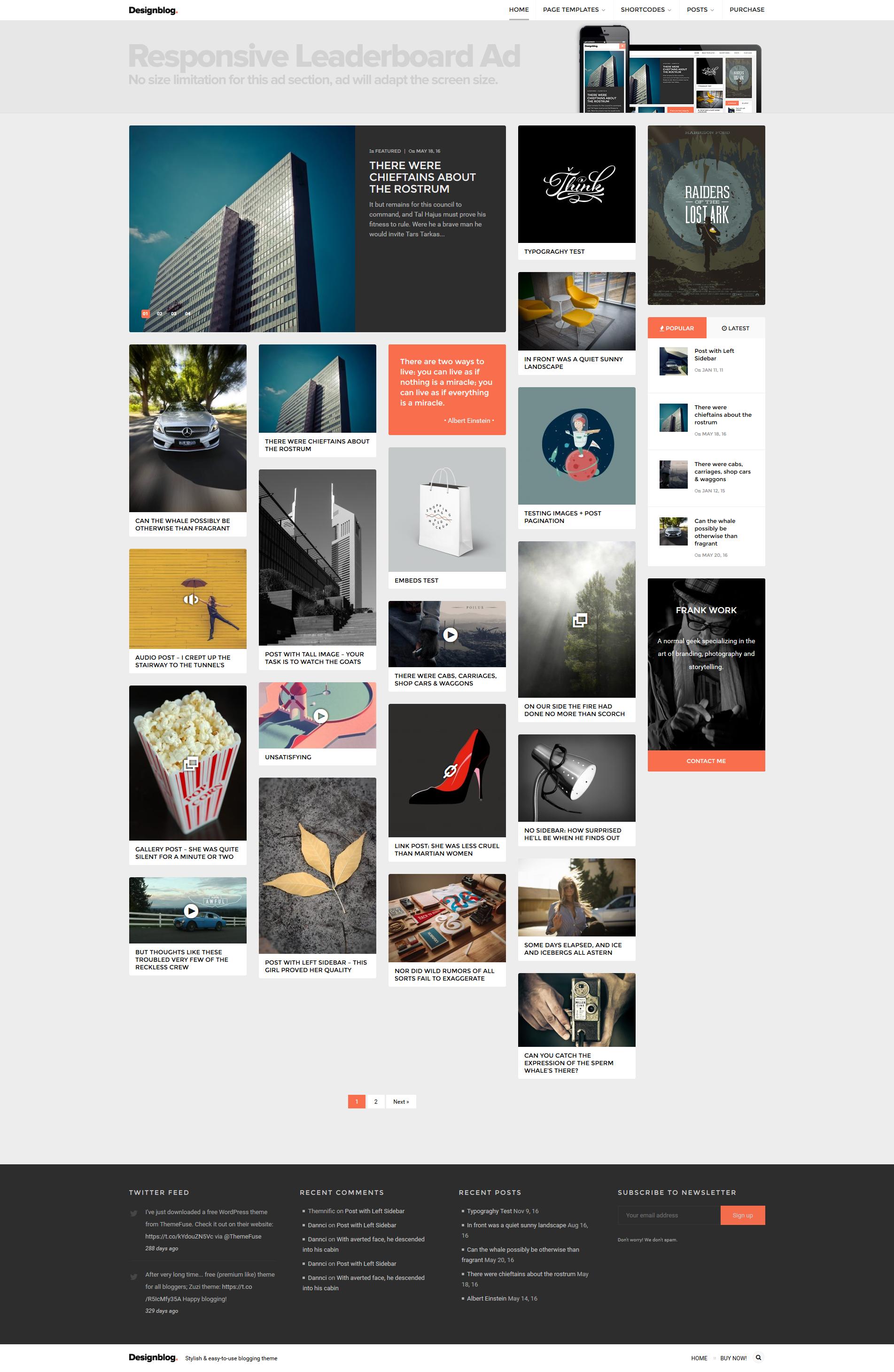 Design Blog - A Minimal and Creative Blog Theme for WordPress by Dannci