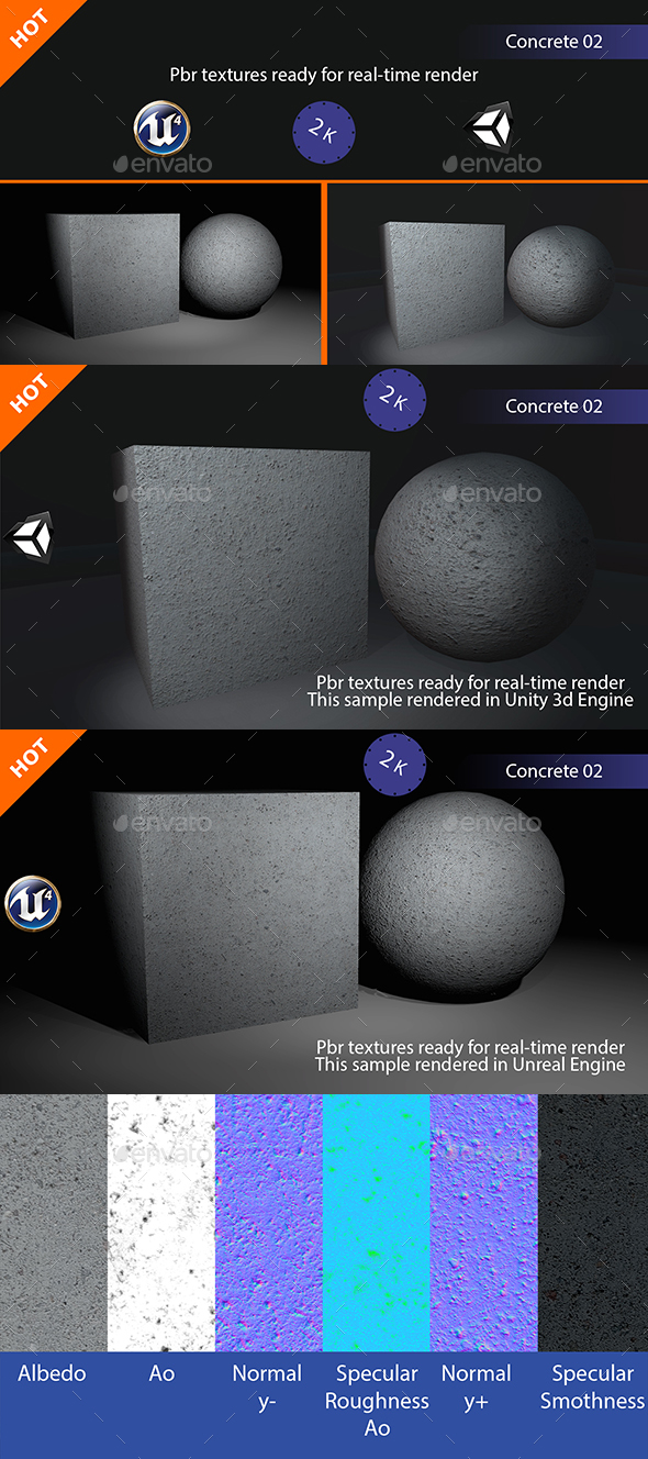PBR Concrete 02 Texture - 3DOcean Item for Sale