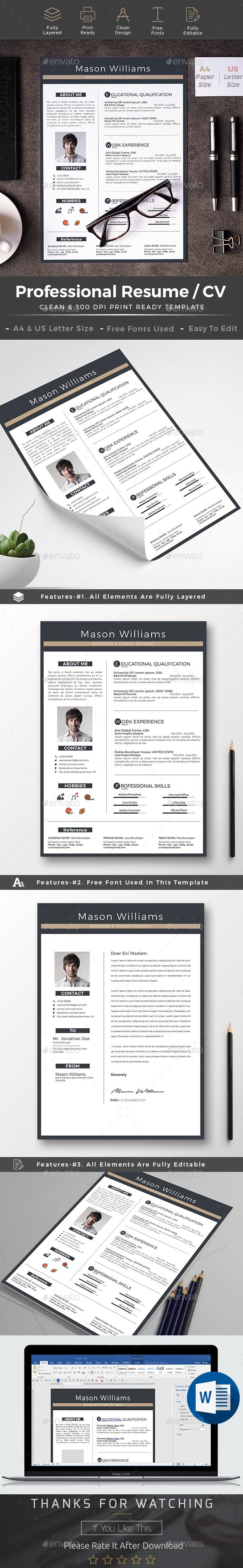 Resume cv word