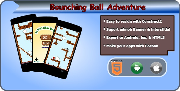Bouncing Ball Adventure HTML5 Mobile Game + Admob - CodeCanyon Item for Sale