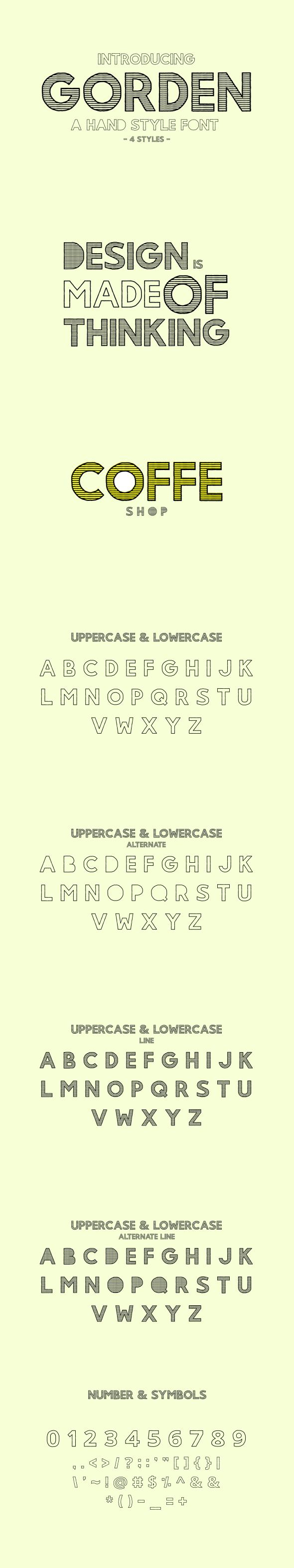 Gorden | A Hand Style Font - Hand-writing Script