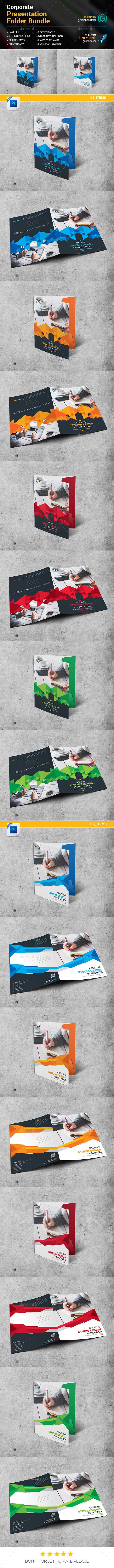 Presentation Folder Bundle 2 in 1 - Stationery Print Templates