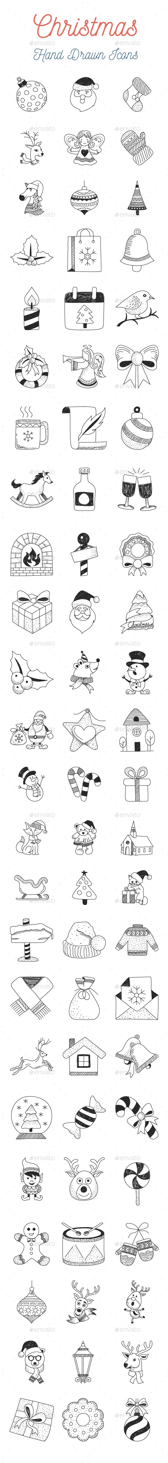 Christmas Hand Drawn Icons - Icons