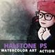 Halftone Watercolor Art   PS Action