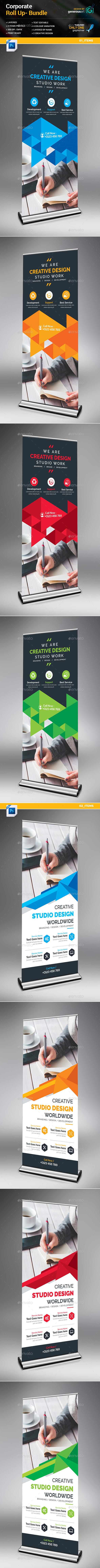 Roll-Up Banner 2 in 1 - Signage Print Templates