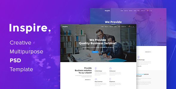 Inspire. – Creative Multipurpose PSD template