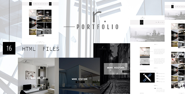 R.PORTFOLIO - Creative Personal/Company Portfolio Template - Portfolio Creative