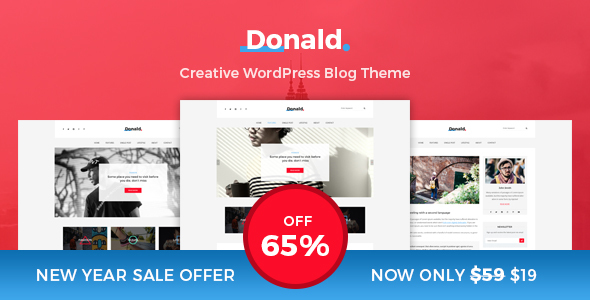 Donald - Creative and Clean WordPress Blog Theme