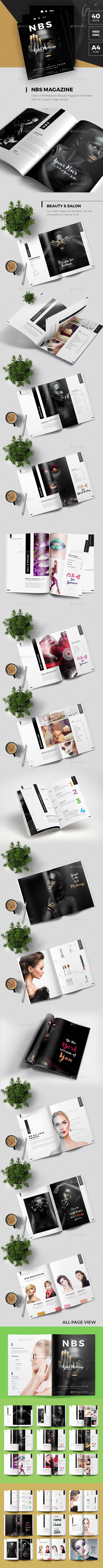 Natural Beauty Salon Magazine - Magazines Print Templates