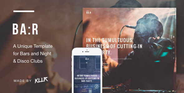 BA:R – Unique Bar, Night & Disco Club Template