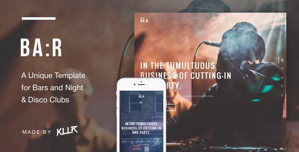 BA:R – Unique Bar, Night & Disco Club Template