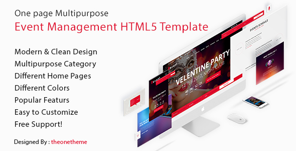 Uevent - One Page Multipurpose Event Management HTML5 Template - Business Corporate