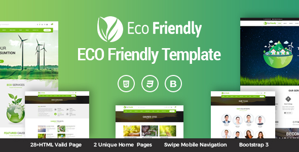 Eco Friendly Environmental Ecology Template - Environmental Nonprofit
