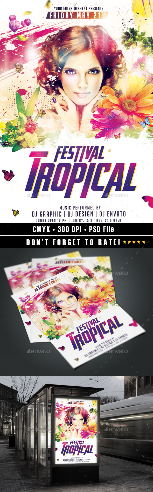 Tropical Festival Flyer - Events Flyers