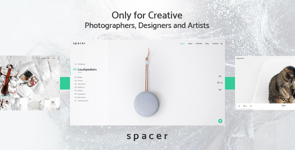 Spacer – Photography Portfolio WordPress Theme