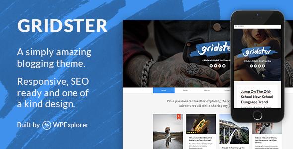 Gridster - A Responsive WordPress Blog Theme - Personal Blog / Magazine