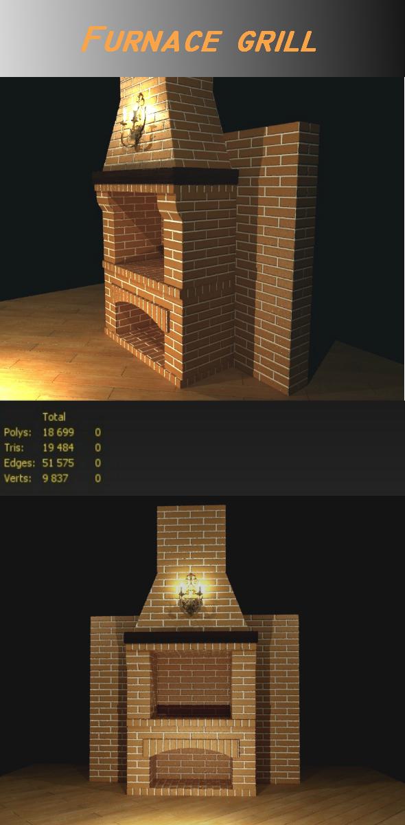 Furnace grill model - 3DOcean Item for Sale