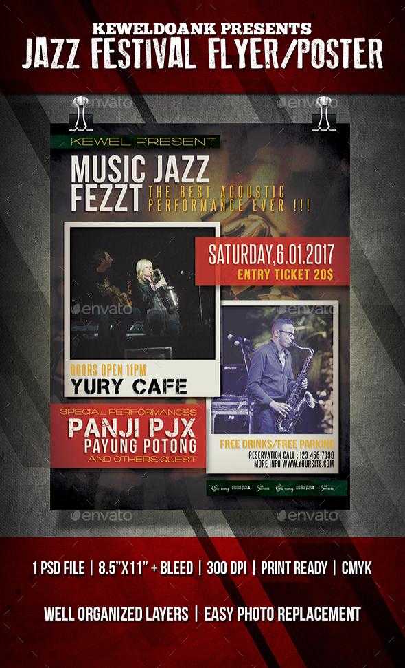 Jazz Festival Flyer / Poster - Events Flyers