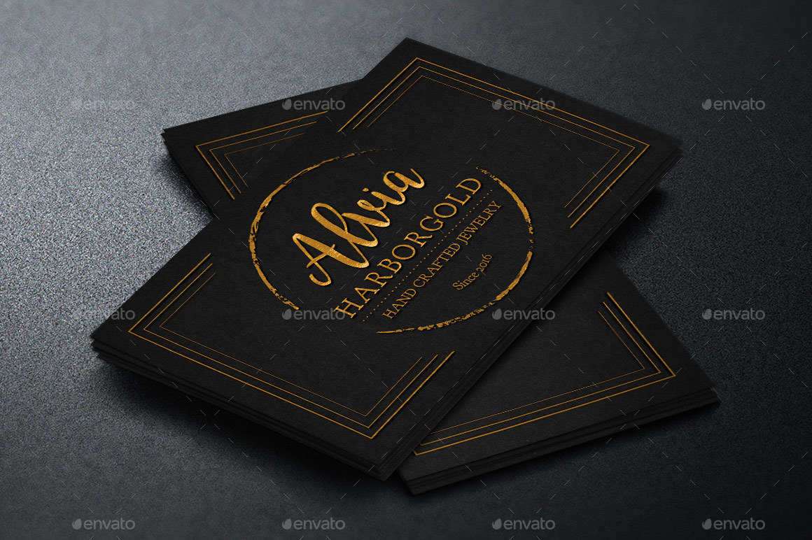 Jewelry Shop Business Card Template By Godserv GraphicRiver - Jewelry business card templates