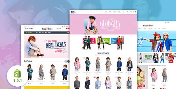 HappyChild - Multi Store Responsive Shopify Theme - Shopify eCommerce