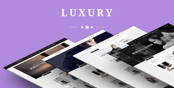 Luxury - eCommerce Fashion Template - Fashion Retail