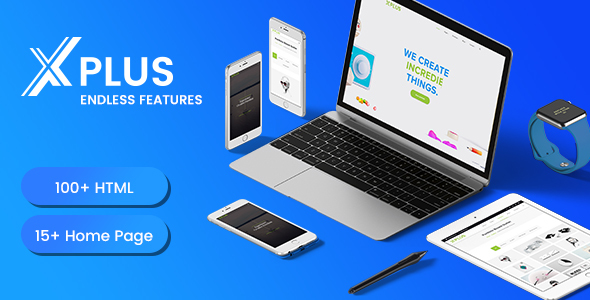 xPlus – Material Design Based Multipurpose HTML5 Template