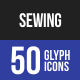 Sewing Glyph Icons