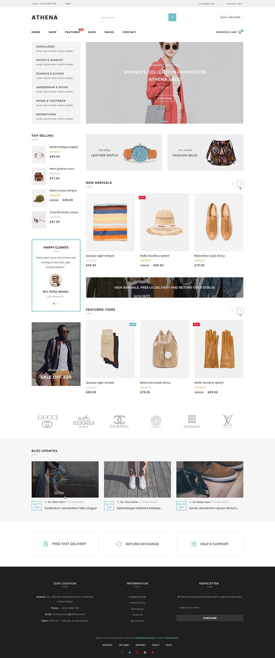 Jms Athena Ultimate Multipurpose Responsive Shopify