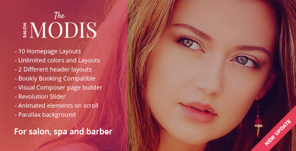 Modis - Salon & Barber WordPress Theme - Health & Beauty Retail