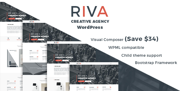 Riva – Creative Agency and Portfolio WordPress Theme