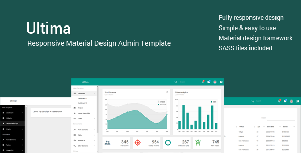 Ultima - Responsive Material Design Admin/Dashboard - Admin Templates Site Templates
