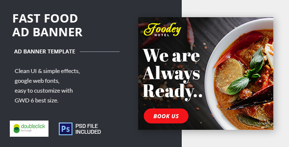 Fast Food - Google HTML5 Animated Banner 03 - CodeCanyon Item for Sale