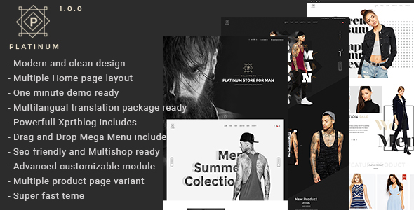 Platinum – Fashion & Accessories Prestashop Theme