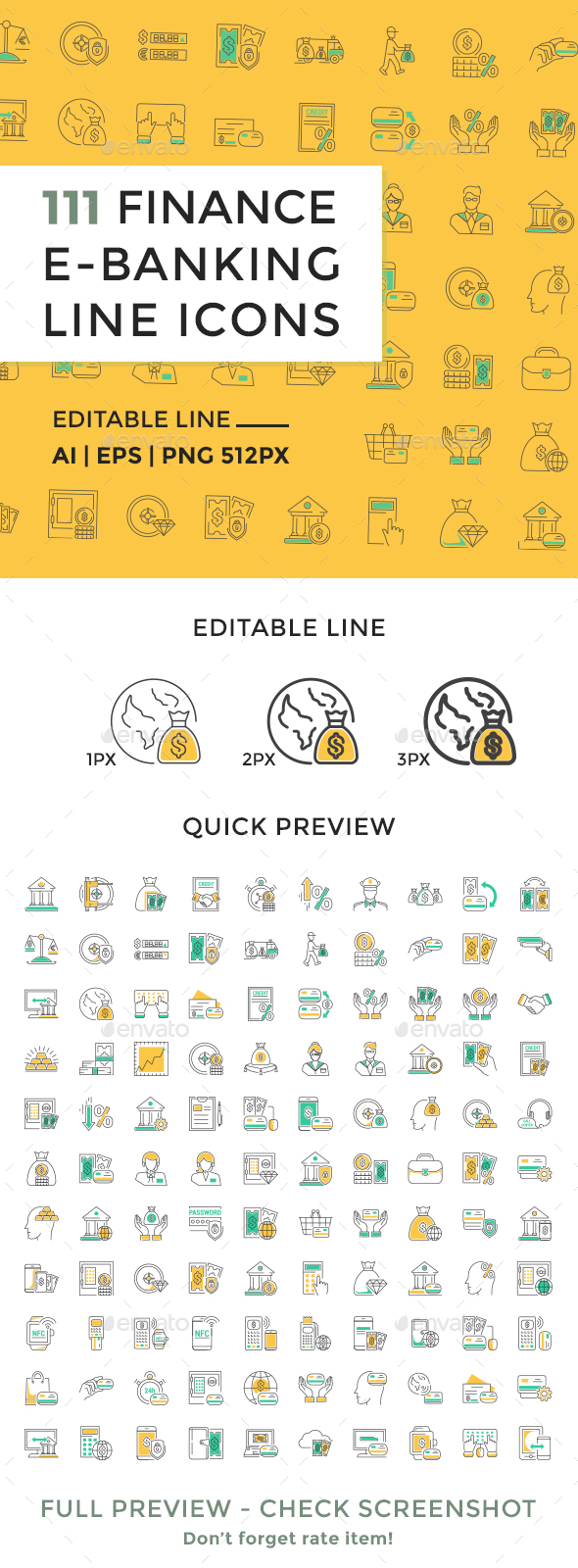 Finance and Banking Line Icons - Icons